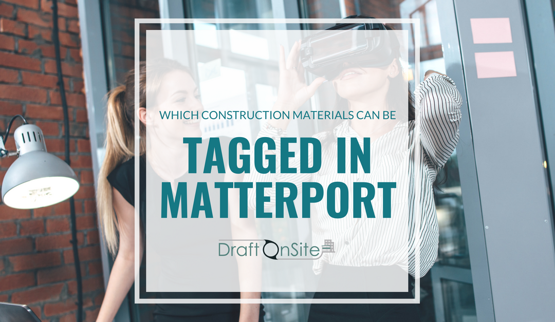 construction materials tagged in matterport scan